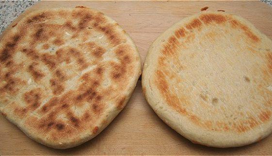 Pizza bagt med bagestål