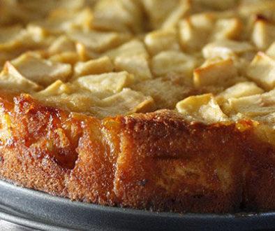æblekage med øl og ingefær