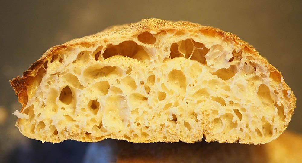 munkemel sigtet speltmel brød struktur
